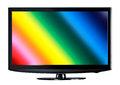 K television display with comparison of resolutions Stock Image