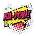 Ka-Pow! Comic Speech Bubble. Vector Eps 10.