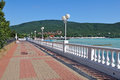 Kabardinka russia near gelendzhik town june view of embankment in is a resort on the black sea coast Royalty Free Stock Photo