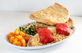 Kabob dinner Royalty Free Stock Photo