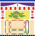 Kabuki japanese traditional drama set of decorations Stock Photo