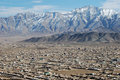 Kabul from air Royalty Free Stock Photo