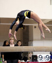 Kacy Catanzaro - balance beam back flip Stock Photography