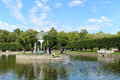 Kadriorg park in tallinn estonia pond the Royalty Free Stock Images