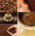 Kaffeecollage Stockfotos