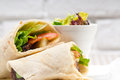 Kafta shawarma chicken pita wrap roll sandwich Stock Photography