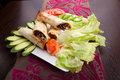 Kafta shawarma meat pita wrap roll sandwich traditional arab mid east food Royalty Free Stock Image