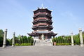 Kaihan tower was built in memory of jixin who died bc was a general serving liu bang later emperor gaozu of han dynasty during the Stock Photos