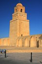 Kairouan old minaret in tunisia Royalty Free Stock Images