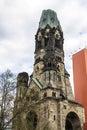 The Kaiser Wilhelm Memorial Church in Berlin, Germany Royalty Free Stock Photo