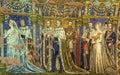 Kaiser Wilhelm memorial church mosaic, Berlin Royalty Free Stock Photo
