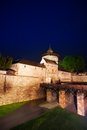Kaiserburg wall and bridge at night in nuremberg the view of inner yard of bavaria germany during summer Stock Images