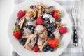 Kaiserschmarrn - German pancakes with berries