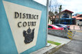Kaitaia district family court new zealand nzl aug outdoor sign and symbol it is the most northern in Royalty Free Stock Image