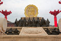 Kaiyuan flourishing age scenery xian the image taken in china s city datang sleepless city spot military officials sculpture Stock Images