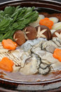 Kaki dotenabe , oyster cooked in a pot Royalty Free Stock Photo