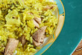 Kalam polow meat and rice with cabbage in the persian language or farsi Stock Images