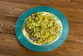 Kalam polow meat and rice with cabbage in the persian language or farsi Stock Photography