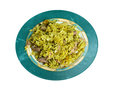 Kalam polow meat and rice with cabbage in the persian language or farsi Royalty Free Stock Photography