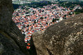 Kalampaka city under rocks, Meteora, Greece Royalty Free Stock Image