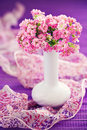 Kalanchoe flowers composition with a pink in a vase Stock Image