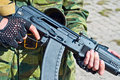 Kalashnikov AK-101 machine gun Stock Photos