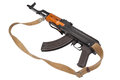 Kalashnikov ak isolated on white Royalty Free Stock Photo