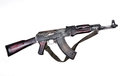 Kalashnikov ak isolated white background Stock Photos