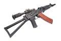 Kalashnikov AK with optical sight Royalty Free Stock Photo