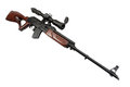 Kalashnikov based sniper rifle with optic sight Royalty Free Stock Photography