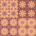 Kaleidoscope abstract colorful patterns set Stock Photography