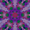 Kaleidoscope of arabesque mandala in gaudy colors Royalty Free Stock Photo