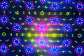 Kaleidoscope blurred defocused lights background Royalty Free Stock Image