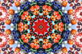 Kaleidoscope of color and pattern Royalty Free Stock Photo