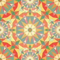 Kaleidoscope colorful seamless tile pattern background Royalty Free Stock Photo