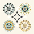 Kaleidoscope it is a four pattern Royalty Free Stock Photos