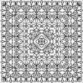 Kaleidoscope Pattern In Black ...