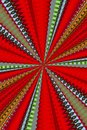 Kaleidoscope a of red green gold black and gray Stock Photography