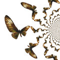 Kaleidoscopic Butterflies Illustration Stock Images