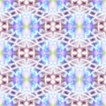 Kaleidoscopic design abstract ornament seamless texture psyched wavy psychedelic pattern background Stock Images