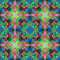 Kaleidoscopic design abstract ornament seamless texture psyched wavy psychedelic pattern background Stock Photo