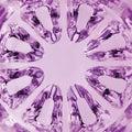 Kaleidoscopic magenta texture spherical glass vertical macro closeup Royalty Free Stock Photos
