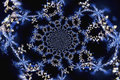 Kaleidoscopic Microphoto of Snow Crystals Royalty Free Stock Photo