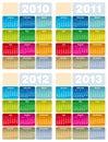 Kalender 2010 2011 2012 2013 Royaltyfria Bilder