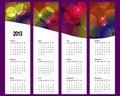 Kalender 2013 på lodlinjebaner. Royaltyfri Bild
