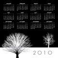Kalender des Jahres 2010   Lizenzfreies Stockbild