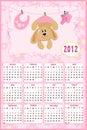 Kalender des Schätzchens für 2012 Lizenzfreie Stockbilder
