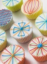 Kaliedoscope Cup Cakes Royalty Free Stock Photo