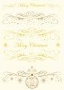 Kaligrafii monogram merry boże narodzenia Obrazy Stock