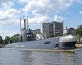 KALININGRAD, RUSSIA. The B-413 submarine lies alongside Museum of the World Ocean